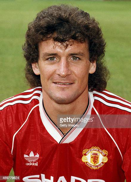 Manchester United player Mark Hughes pictured prior to the 1988/89 season