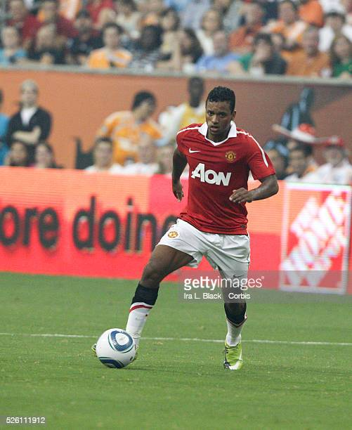 Manchester United player Nani looks for opening during the MLS All Star Game game between the US and Manchester United Manchester United won the...