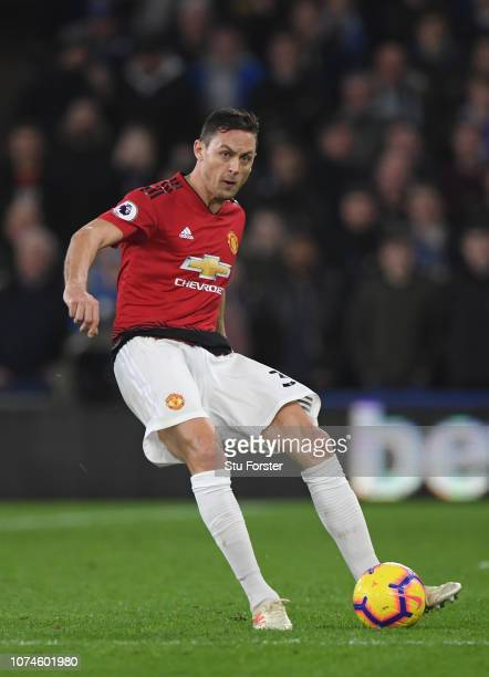 Manchester United player Nemanja Matic in action during the Premier League match between Cardiff City and Manchester United at Cardiff City Stadium...