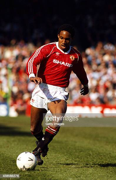 Manchester United player Paul Ince in action during an FA Cup semi final between Manchester United and Oldham Athletic at Maine Road on April 8 1990...