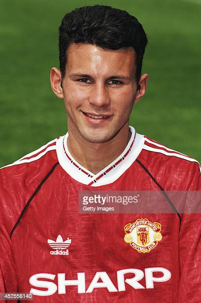 Manchester United player Ryan Giggs pictured at a pre season photocall at Old Trafford on August 14 1991 in Manchester England