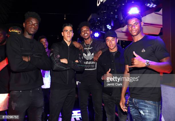 Manchester United players Axel Tuanzebe and Joel Castro Pereira Nick Young Manchester United players Jesse Lingard and Marcus Rashford attend Adidas...