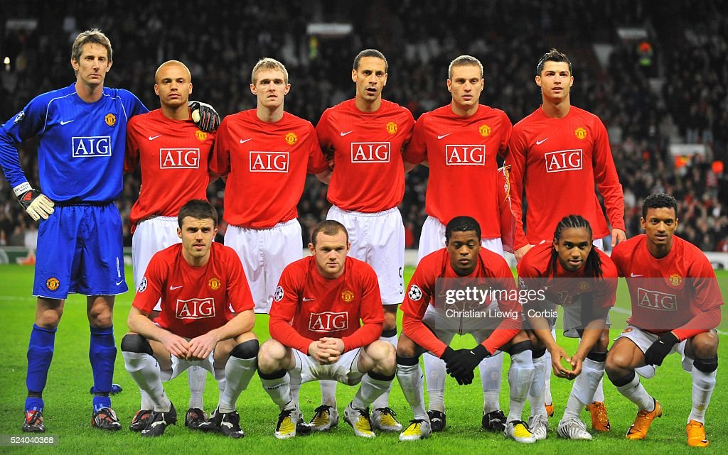 Manchester United Players Before The 2007 2008 Champions