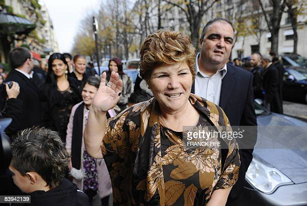 Manchester United Portuguese winger Cristiano Ronaldo's mother Maria Dolores dos Santos Aveiro arrives on December 7 2008 at an hotel in Paris for a...