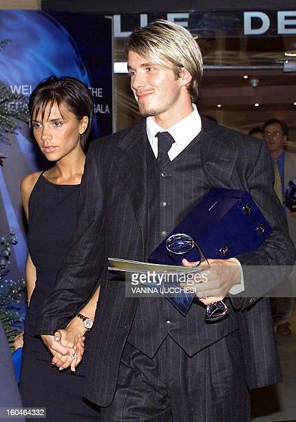 Manchester United striker David Beckham is accompanied by his wife former Spice Girl Victoria Adams as they leave the Monaco Sporting Club late 26...