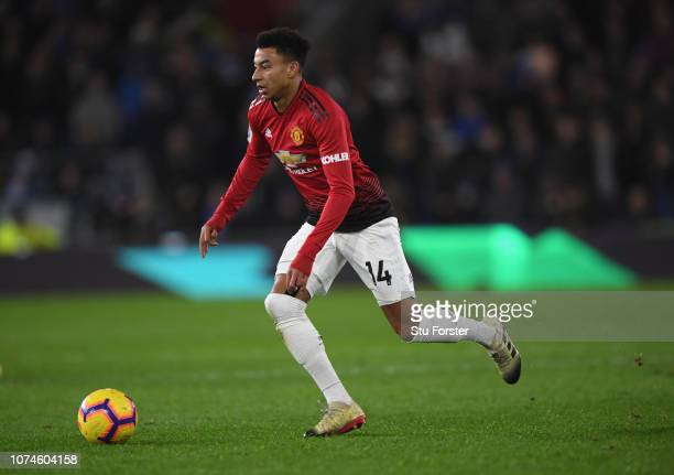 Manchester United striker Jesse Lingard in action during the Premier League match between Cardiff City and Manchester United at Cardiff City Stadium...
