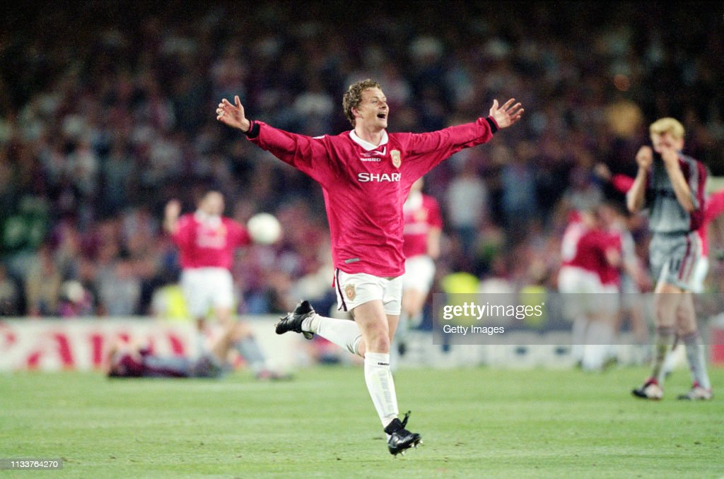 Ole Gunnar Solskjaer 1999 UEFA Champions League Final : News Photo