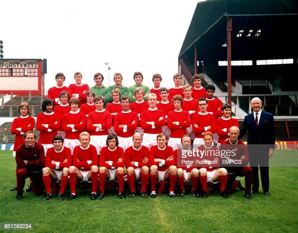 Steve James Alan Gowling Jimmy Rimmer Alex Stepney John Connaughton Brian Kidd Paul Edwards Willie Watson Tommy O'Neil Tony Young Kevin Lewis Brian...
