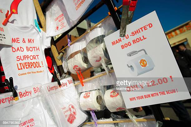Manchester United toilet paper sold to rival fans of Liverpool