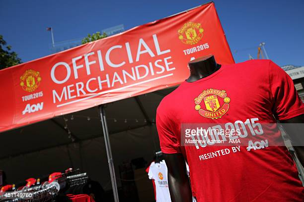 Manchester United Tour 2015 merchandise on sale before the International Champions Cup 2015 match between Club America and Manchester United at...