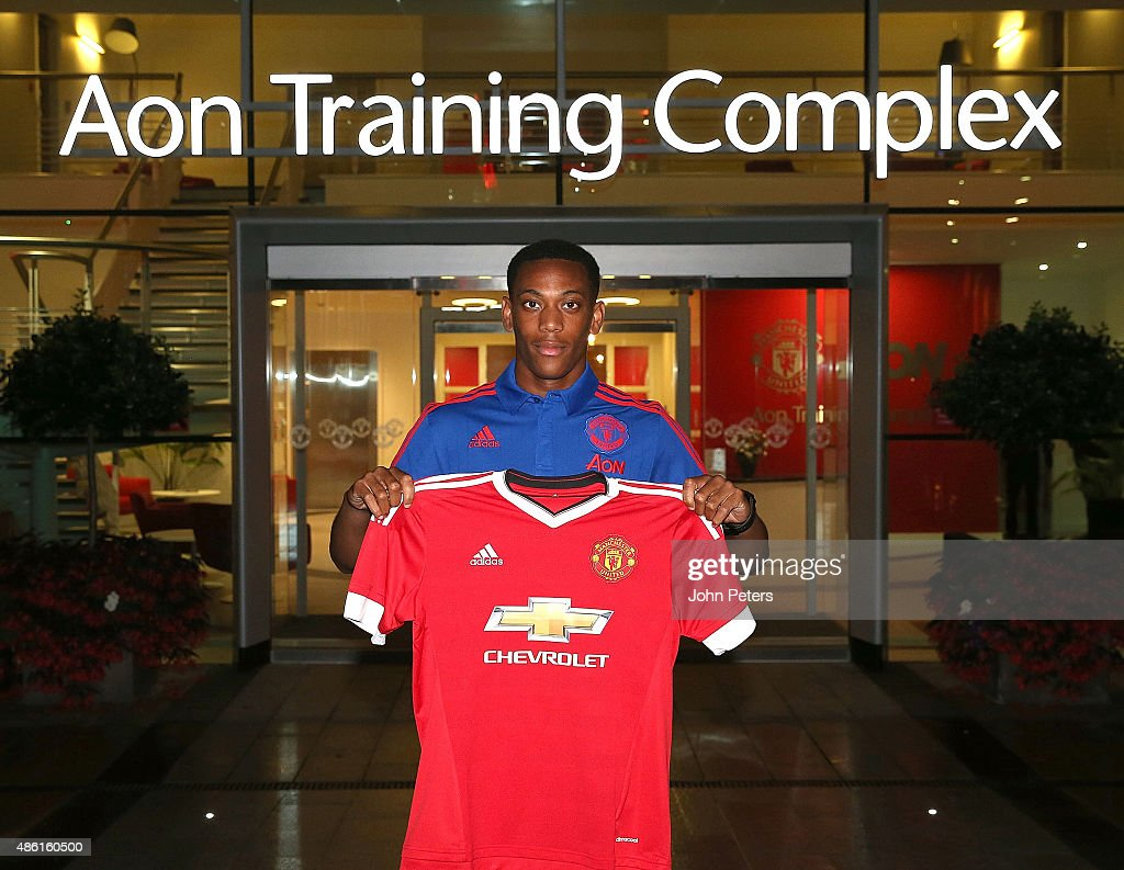 Manchester United Unveil New Signing Anthony Martial : News Photo