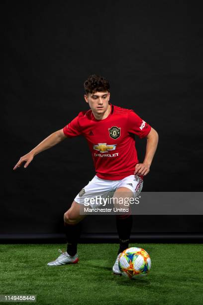 Manchester United unveil new signing Daniel James at Aon Training Complex on June 12 2019 in Manchester England