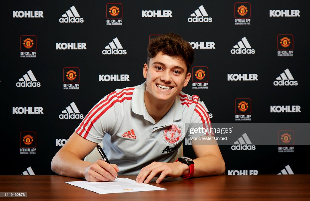 Manchester United Unveil New Signing Daniel James : News Photo