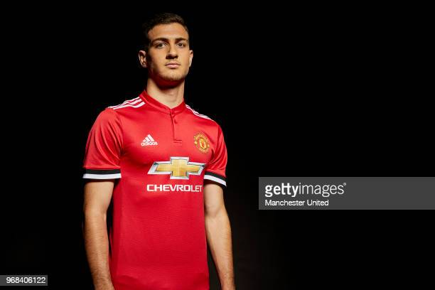 Manchester United unveil new signing Diogo Dalot at Aon Training Complex on June 5 2018 in Manchester England