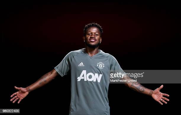 Manchester United unveil new signing Fred at Aon Training Complex on June 4 2018 in Manchester England
