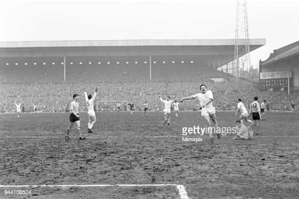 Manchester United v Southampton FA Cup semi final match at Villa Park Saturday 27th April 1963 Final score Manchester United 10 Southampton Crowd...
