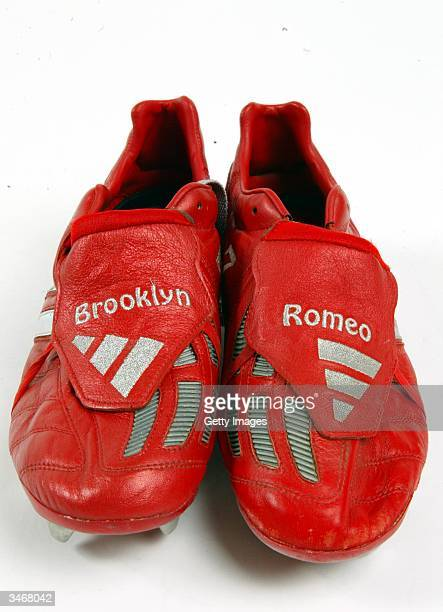 Manchester United v West Bromwich Albion 2002This was the first pair of red boots that David wore and count as one of his favourites Manchester...