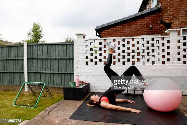 Manchester United Women and England goalkeeper Siobhan Chamberlain during a training session at home on June 09 2020 in Manchester England