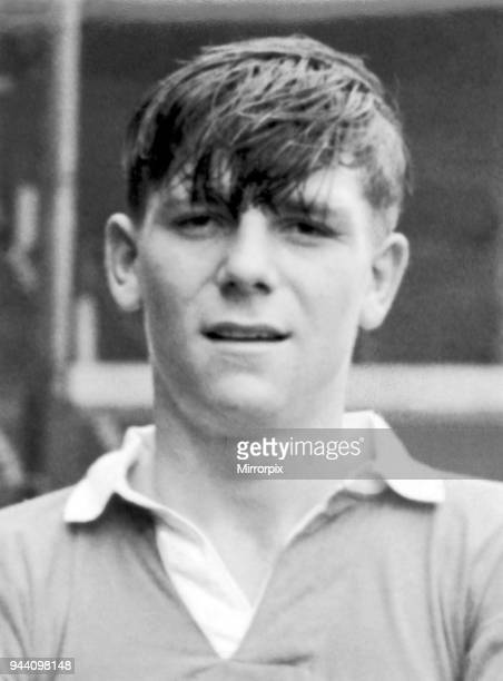 Manchester United youth team footballer Duncan Edwards, recently signed from Dudley, pictured August 1952.