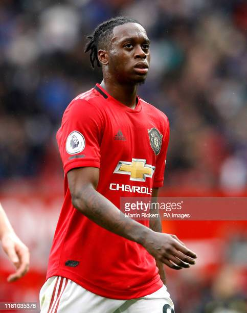 Manchester United's Aaron WanBissaka during the Premier League match at Old Trafford Manchester