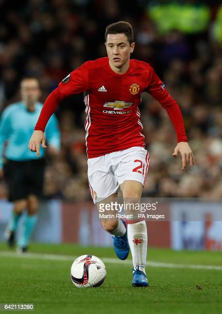 Manchester United's Ander Herrera during the UEFA Europa League Round of 32 First Leg match at Old Trafford Manchester