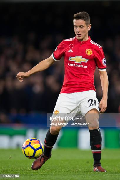 Manchester United's Ander Herrera in action during the Premier League match between Chelsea and Manchester United at Stamford Bridge on November 5...