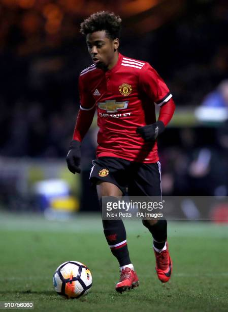 Manchester United's Angel Gomes during the Emirates FA Cup fourth round match at Huish Park Yeovil