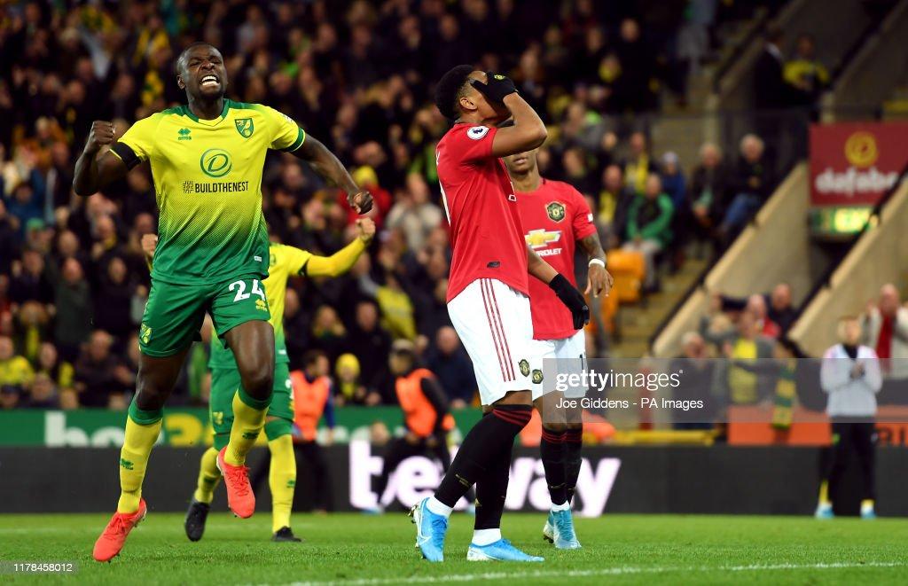 Norwich City v Manchester United - Premier League - Carrow Road : Foto jornalística