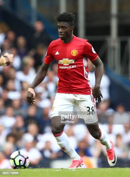 Manchester United's Axel Tuanzebe during Premier League match between Tottenham Hotspur and Manchester United at White Hart Lane London 14 May 2017
