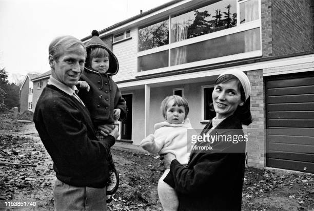 Manchester United's Bobby Charlton pictured with his wife Norma and their daughters Andrea and Suzanne at their new luxury home at Lymm Cheshire 11th...