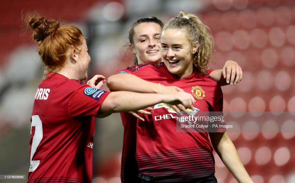 Manchester United Women v Aston Villa Ladies - FA Women's Championship - Leigh Sports Village : News Photo