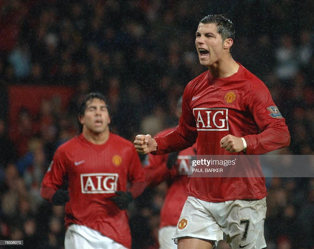 Manchester United's Cristiano Ronaldo c : News Photo