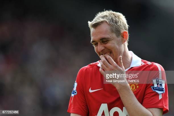 Manchester United's Darren Fletcher reacts