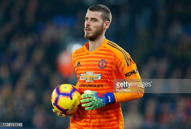 Manchester United's David De Gea during English Premier League between Crystal Palace and Manchester United at Selhurst Park stadium London England...