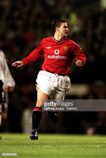 Manchester United's David Healy in action after coming on as a substitute against Ipsiwch