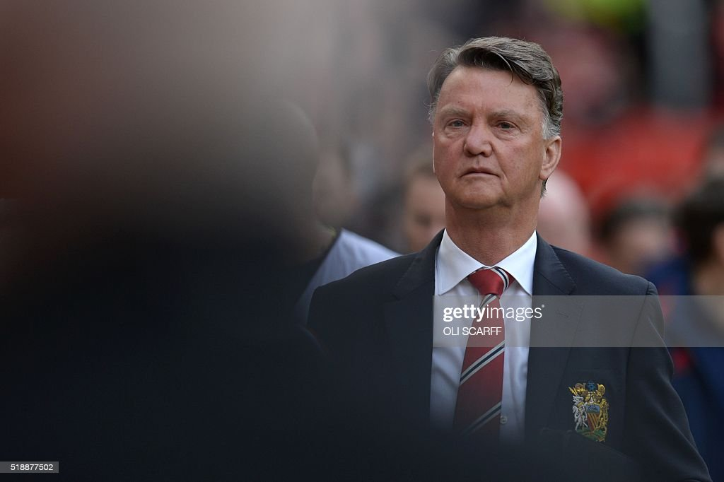Manchester United's Dutch Manager Louis Van Gaal Arrives