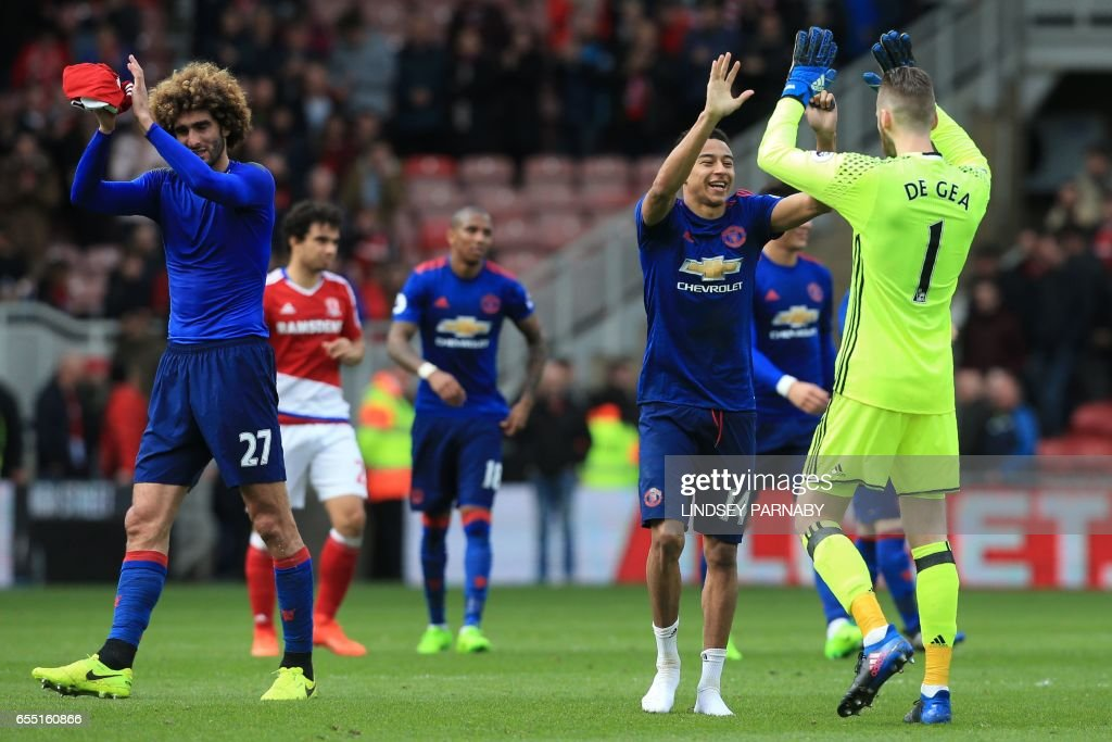 FBL-ENG-PR-MIDDLESBROUGH-MAN UTD : Foto jornalística