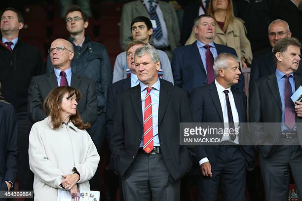 Manchester United's former chief executive David Gill attends the English Premier League football match between Burnley and Manchester United at Turf...