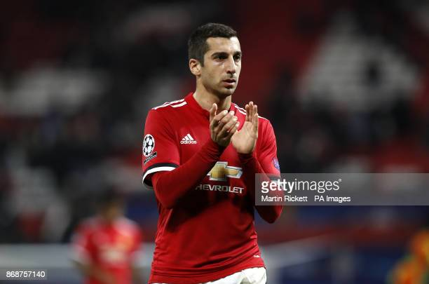 Manchester United's Henrikh Mkhitaryan during the UEFA Champions League Group A match at Old Trafford Manchester PRESS ASSOCIATION Photo Picture date...