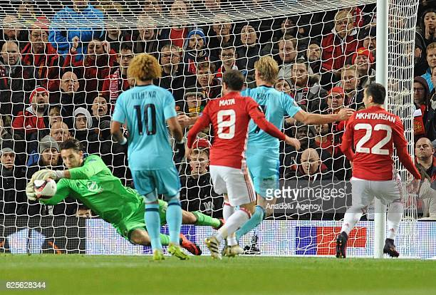 Manchester United's Henrikh Mkhitaryan in action during the UEFA Europa League Group A match between Manchester United and Feyenoord at Old Trafford...