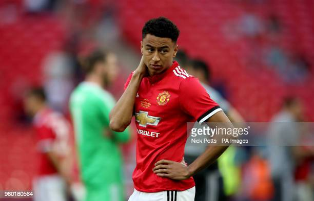 Manchester United's Jesse Lingard appears dejected after the final whistle during the Emirates FA Cup Final at Wembley Stadium London