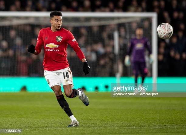 Manchester United's Jesse Lingard during the FA Cup Fifth Round match between Derby County and Manchester United at Pride Park on March 5 2020 in...
