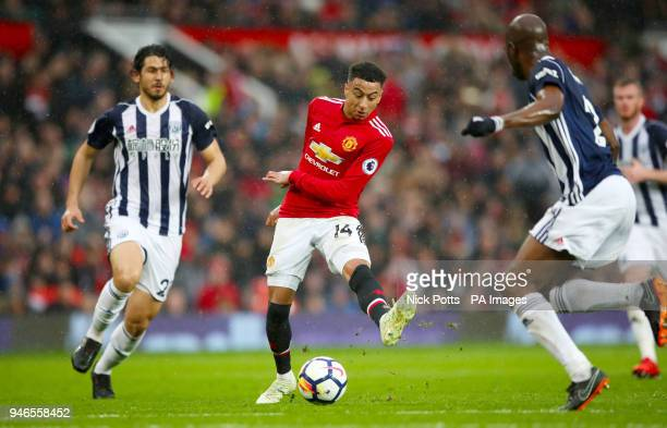 Manchester United's Jesse Lingard in action during the Premier League match at Old Trafford Manchester