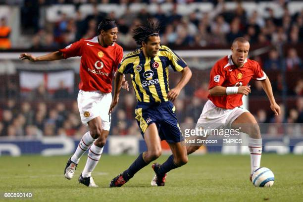 Manchester Uniteds Kleberson And Mikael Silvestre And Fenerbahces Pierre Van Hooijdonk