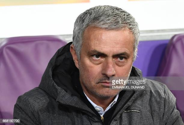 Manchester United's manager José Mourinho looks on during the UEFA Europa League match between Anderlecht and Manchester United at the Constant...