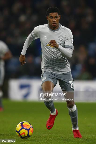 Manchester United's Marcus Rashford during the Premier League match at Turf Moor Burnley
