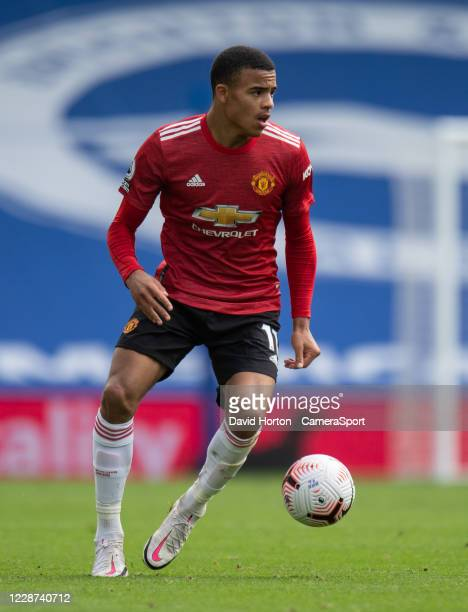 Manchester United's Mason Greenwood during the Premier League match between Brighton Hove Albion and Manchester United at American Express Community...