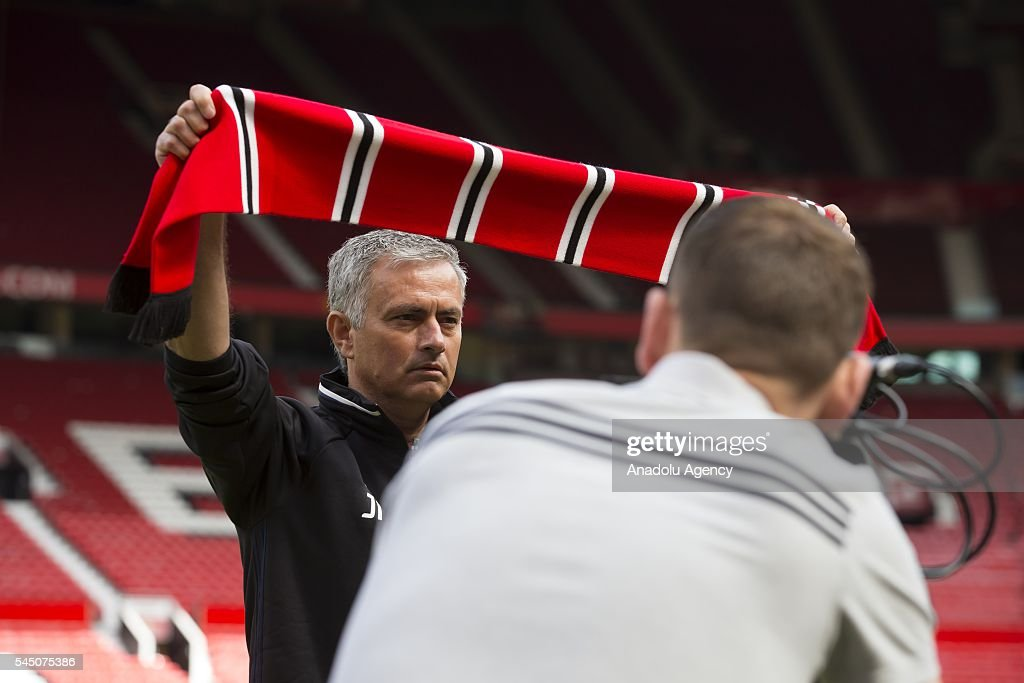 Manchester United's new manager Jose Mourinho... : News Photo