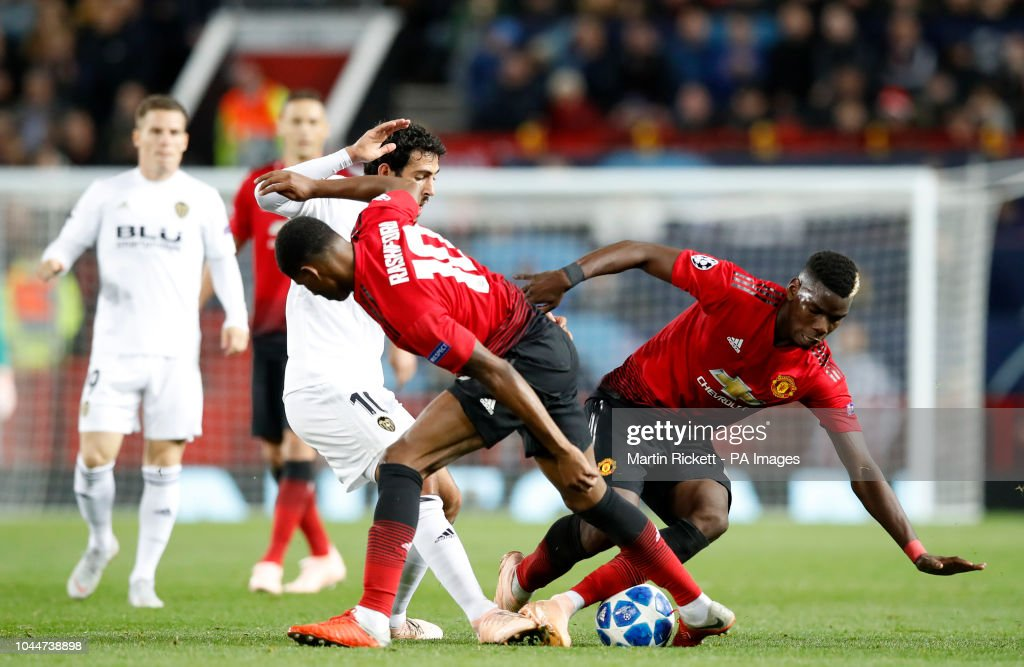 Manchester United v Valencia - UEFA Champions League - Group H - Old Trafford : News Photo