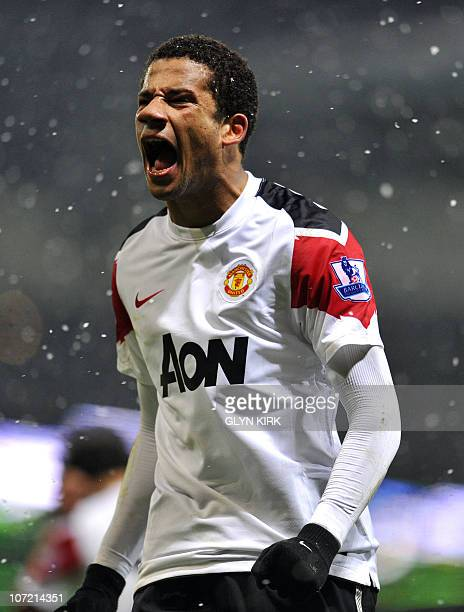 Manchester United's Portuguese striker Bebe shows his frustration during their quarter final League Cup football match against West Ham at Upton Park...